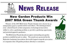 MGA Green Thumb Award