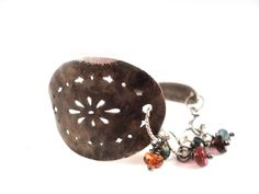 VINTAGE SPOON BRACELET Rustic Cuff Bangle with by TnBCdesigns, $49.00