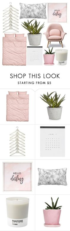 """fifteen flares inside those ocean eyes"" by stxrryskies ❤ liked on Polyvore featuring interior, interiors, interior design, home, home decor, interior decorating, Hello Darling, Pantone and Dot & Bo"