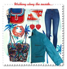 """Walking along the seaside..."" by pomy22 ❤ liked on Polyvore featuring Bebe, Converse and Marc Jacobs"