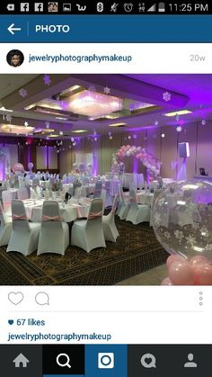 Balloon arch n table and chair covers in mint green n white