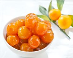 Candied Vanilla-Poached Kumquats Recipe | Sticky, Gooey, Creamy, Chewy | A Blog About Food with a Little Life Stirred In