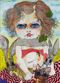 View Girl 6 by Del Kathryn Barton on artnet. Browse upcoming and past auction lots by Del Kathryn Barton. Australian Painting, Australian Artists, Artist Painting, Painting & Drawing, Del Kathryn Barton, Sketchbook Cover, Pop Art Illustration, Portrait Art, Portrait Paintings