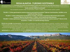 Cartel de Talleres de Turismo Sostenible #RiojaAlavesa http://riojaalavesa.blog.euskadi.net/talleres-de-turismo-sostenible Turismo Jasangarri mintegiak http://arabaerrioxa.blog.euskadi.net/turismo-jasangarri-mintegiak