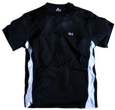 tee-shirt allsize de grande taille pour homme composent de100 % polydacron Très beau coloris Noir et imprimé avec bandes blanches latérales Anti-collant sur la peau