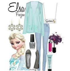 "Elsa inspired outfit- very ""cool"""