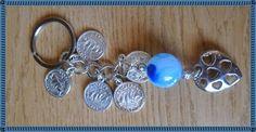 Silvia Jewellery of Style: Portachiavi con medagliette,perla e cuore