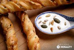 Grissini magvakkal és sajttal