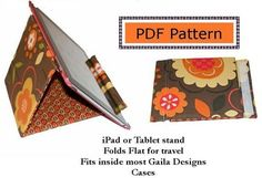 Free iPad Stand Sewing Pattern by Gaila Designs