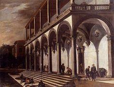 Viviano Codazzi (Bergamo 1604 - 1670 Rome) View of the Villa Poggioreale, Naples Naples, Villa, 17th Century, Landscape Paintings, Rome, Arch, Image, Italian Recipes, Masters