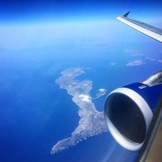 British Airways A320 flying over the Greek Islands