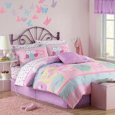 Girls owl rooms on pinterest owl room decor owl bedding - Pink and purple kids room ideas ...