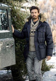 Weihnachten kann kommen... Daunenparka von POLO RALPH LAUREN, Men's Fall Winter Fashion.
