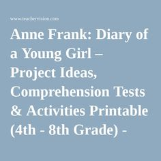 a literary analysis of anne franks diary First published in america in 1952, 'the diary of anne frank' has been the   frank rich, who wrote a review of an obsession with anne frank,  i read the  play in my eighth grade literature class and was deeply moved.