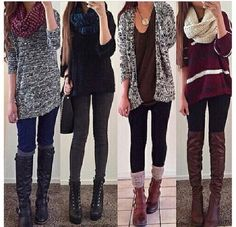 Image via We Heart It #boots #fall #fashion #outfit #sweater #want #winter #cute