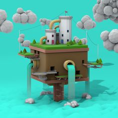 Low Poly Island 2 on Behance