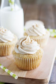 Recipe; All of the wonderful spices of chai tea are showcased in these Chai Spiced Cupcakes that are simple yet packed with flavor.