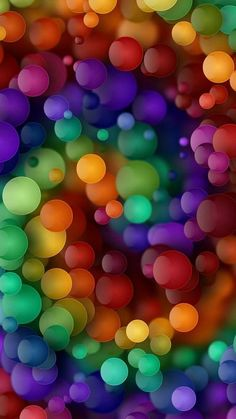 Colorful balls for a colorful mind # - Backgrounds - Trend Baby Rainbow 2020 Bubbles Wallpaper, Rainbow Wallpaper, Colorful Wallpaper, Cool Wallpaper, Wallpaper Backgrounds, Iphone Wallpaper Planets, Samsung Galaxy Wallpaper, Cellphone Wallpaper, World Of Color