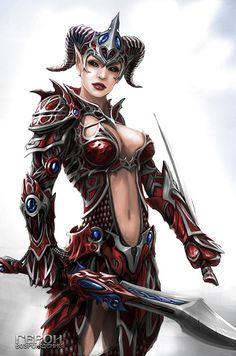 Female Warrior by shadowhunter144.deviantart.com on @deviantART