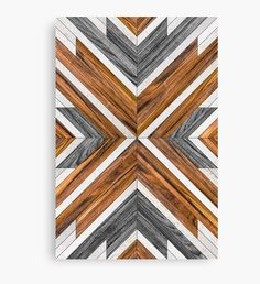 'Urban Tribal Pattern 5 - Aztec - Concrete and Wood' Canvas Print by Zoltan Ratko Urban Tribal Pattern 5 - Aztec - Concrete and Wood Canvas Prints by Zoltan Ratko Reclaimed Wood Wall Art, Wooden Wall Art, Diy Wall Art, Wood Wall Decor, Woodworking Plans, Woodworking Projects, Woodworking Supplies, Boho Deco, Wood Mosaic