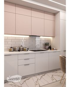 Este posibil ca imaginea să conţină: bucătărie şi interior Kitchen Room Design, Modern Kitchen Design, Home Decor Kitchen, Kitchen Furniture, Interior Design Living Room, Home Kitchens, Kitchen Soffit, Wood Kitchen Cabinets, Kitchen Dinning