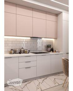 Este posibil ca imaginea să conţină: bucătărie şi interior Moduler Kitchen, Kitchen Soffit, Kitchen Dinning Room, Kitchen Room Design, Wood Kitchen Cabinets, Kitchen Cabinet Colors, Home Decor Kitchen, Kitchen Living, Interior Design Kitchen