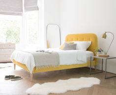 Napper bed in our Bumblebee clever velvet
