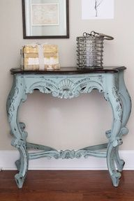 chalk paint entry table