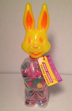 Garbage Archive Presents: 1971 Rosen Mr Bunny candy container. If you demand quality, here you go! The candy will NOT come with item, it's new candy and was used in picture for display. See pictures! | eBay! Easter Toys, Easter Wishes, David Lynch, Candy Containers, Chewing Gum, Vintage Easter, Easter Baskets, Whimsical, Bunny