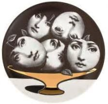 """Plate 104 from Piero Fornasetti's """"Theme and Variations"""" series"""