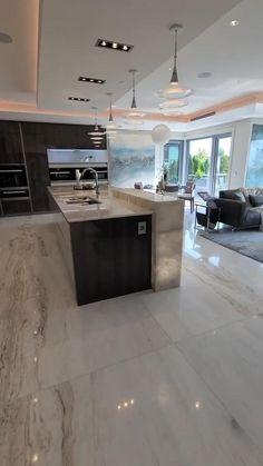 Luxury Kitchen Design, Kitchen Room Design, Luxury Kitchens, Luxury Interior Design, Home Decor Kitchen, Modern House Design, Interior Design Kitchen, Kitchen Ideas, Best Home Design