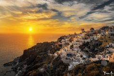 Oia sunset by Yiran An  on 500px