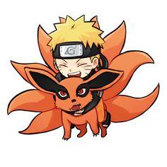 Naruto x Kurama Anime Naruto, Naruto Shippuden Sasuke, Naruto Kakashi, Anime Chibi, Naruto Cute, Otaku Anime, Kawaii Anime, Naruto Wallpaper, Wallpaper Naruto Shippuden