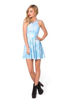 Snowflake Reversible Skater Dress (48HR) by Black Milk Clothing $85AUD