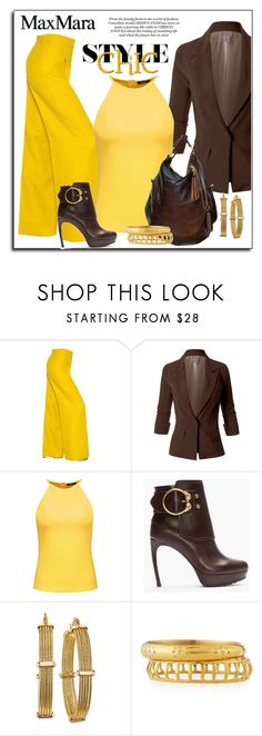 """""""MAX MARA PANTS"""" by arjanadesign ❤ liked on Polyvore featuring MaxMara, LE3NO, Raoul, Alexander McQueen, 2028, Ashley Pittman, WorkWear, AlexanderMcQueen and le3no"""
