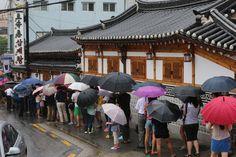 23일 중복 서울의 한 삼계탕 집에 길게 늘어선 손님들. 나는 복날이 싫어욧 ! 꼬꼬댁 !!!
