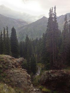 Looking out on Alpine Loop, Colorado.