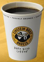 Einstein Bros has a great seasonal Fall-blend coffee! Reminds me of pumpkin patches and changing leaves.