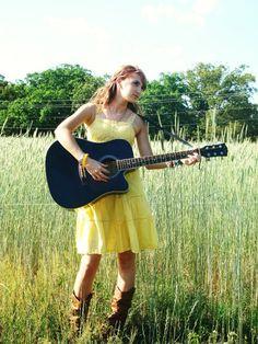 guitar field shot