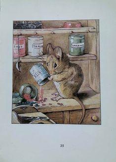 1950's Vintage 'The Tale Of Two Bad Mice' | Etsy Salvador Dali, Beatrix Potter, England, Postcard Printing, Wild Birds, All Print, Vintage Prints, Etsy, The Originals