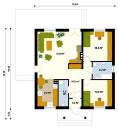 Model House Plan, Vintage House Plans, Micro House, Sweet Home, New Homes, Floor Plans, Cottage, House Design, Cabin