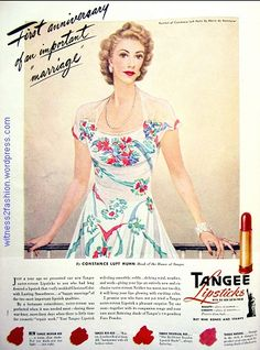 Full page Tangee ad, Vogue, 1943.
