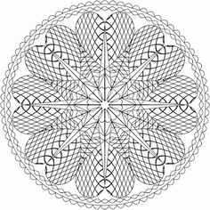 A collection of free printable coloring pages on mandala is available on this website. Snowflake Coloring Pages, Abstract Coloring Pages, Detailed Coloring Pages, Mandala Coloring Pages, Coloring Book Pages, Printable Coloring Pages, Coloring Sheets, Colorful Drawings, Colorful Pictures