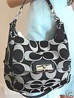 NEW! COACH KRISTIN BLACK GREY SIGNATURE SHOULDER CROSSBODY HOBO TOTE BAG PURSE - http://clutches-handbags-shoes.com/2013/07/new-coach-kristin-black-grey-signature-shoulder-crossbody-hobo-tote-bag-purse/