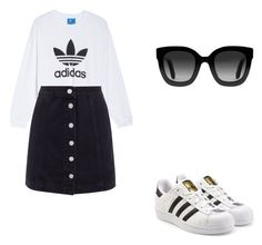 """""""Adidas"""" by anamincu ❤ liked on Polyvore featuring adidas, adidas Originals and Gucci"""