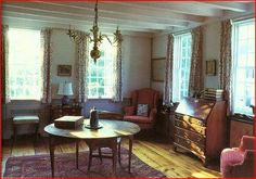 New England Colonial Living Room