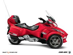 Can-am Spyder.  I think a stripped down retro version of one of these would be pretty cool.