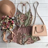 Hot vender 2016 verão nova moda das mulheres marca vestuário elegante Printing vestidos sem mangas o pescoço vestidos de praia ocasional do vintage