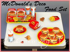 Helen-sims: TS3 McDonald's Deco Food Set
