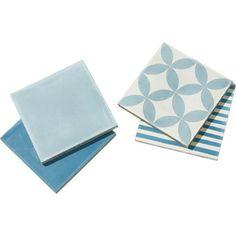 Carrelage intérieur en carreau de ciment, bleu jean, 20x20cm | Leroy Merlin 63euros
